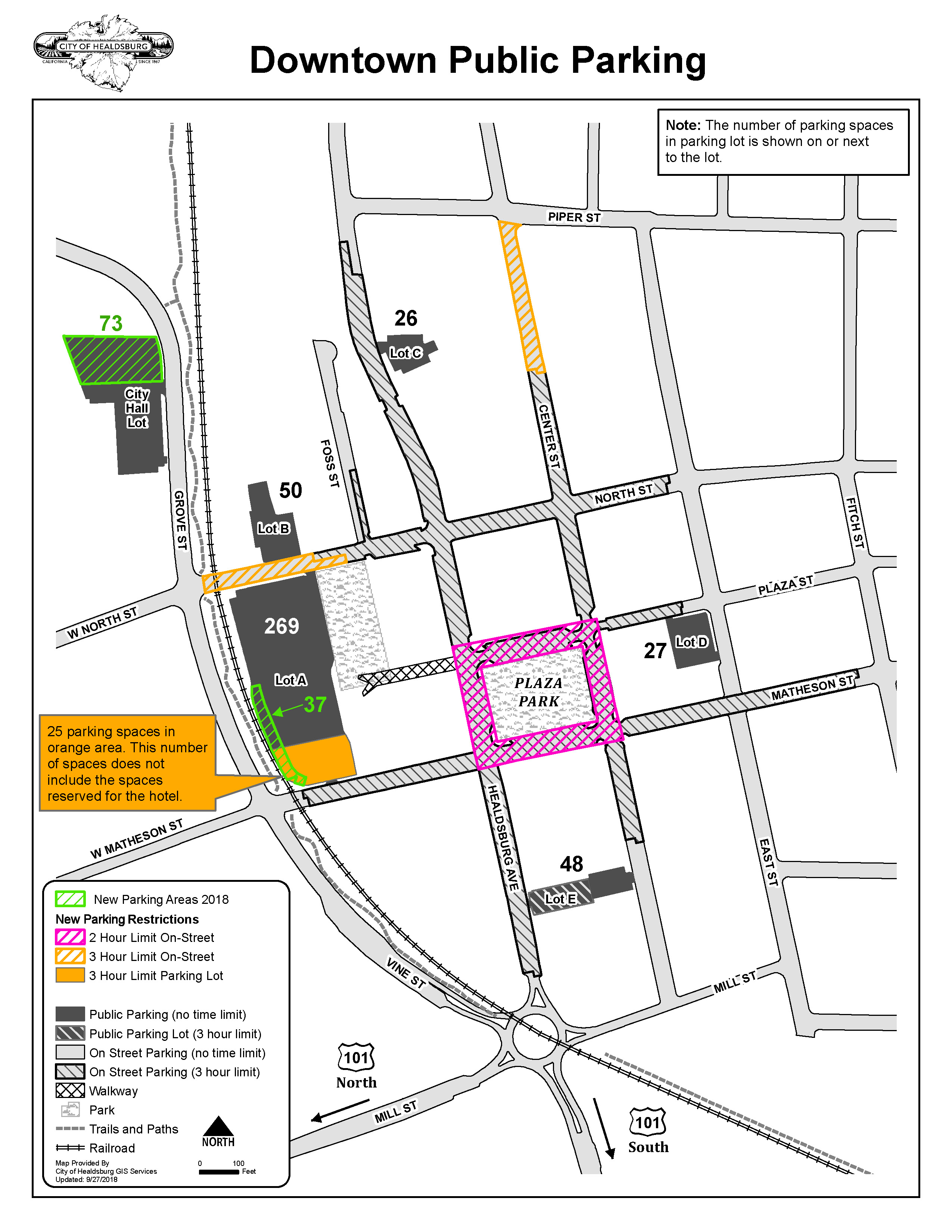 Downtown Map Displaying Parking Zones
